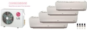 LG QUAD ZONE LMU36CHV LSN090HSV4 (THREE) LSN180HSV4 Ductless Split System