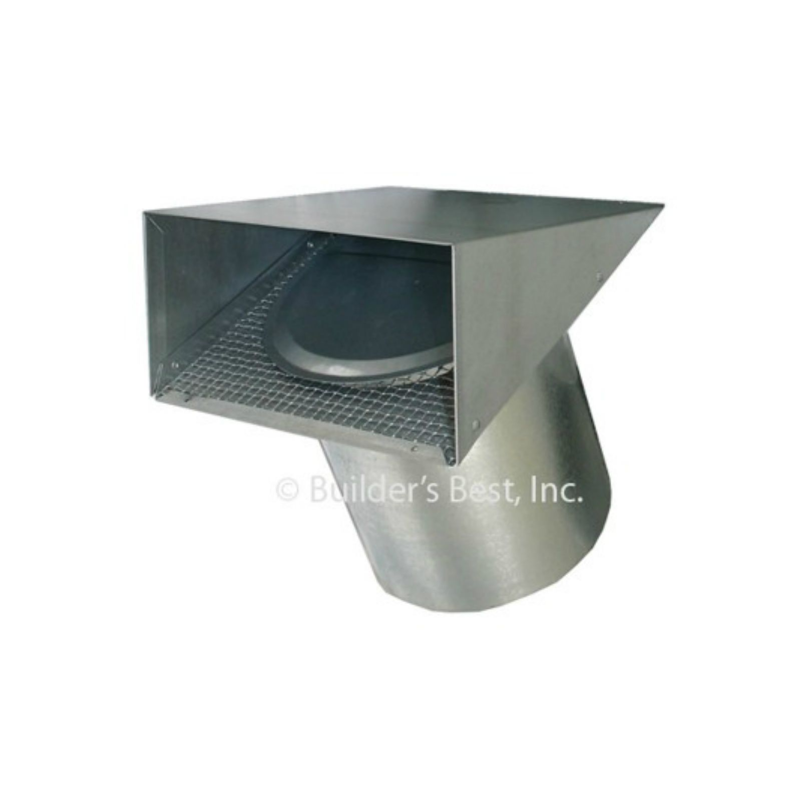 "Nemco 111072 - Heavy Duty Aluminum Vent Hood - Tail Included, 10""  X  6"" Flapper"