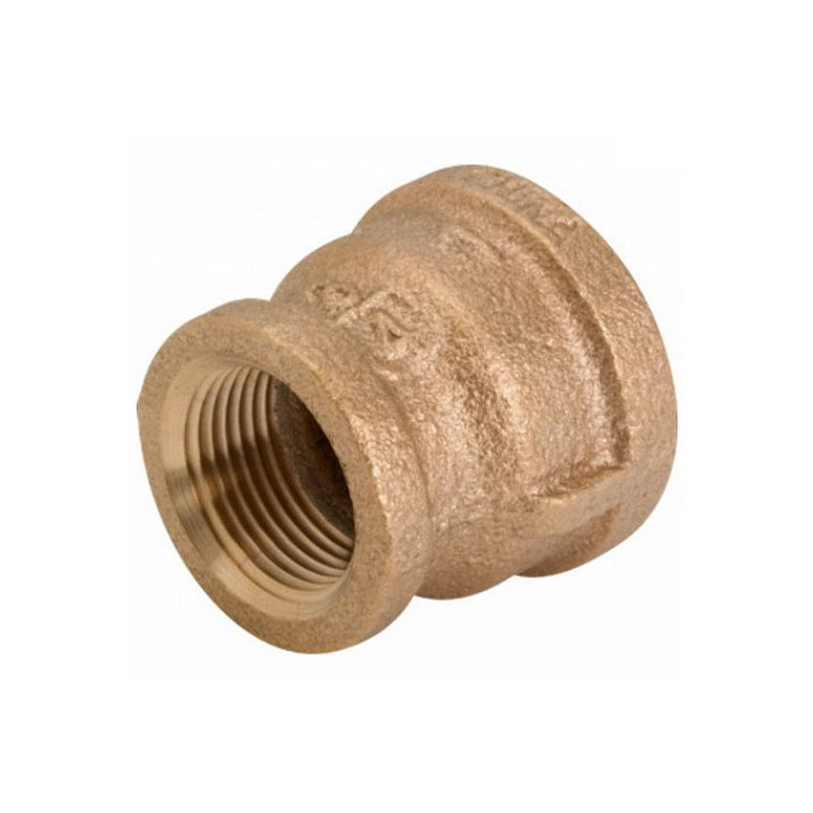 "Streamline 454-054 - Reducing Coupling, Red Brass, 1"" X 3/4"" I.D. I.D."