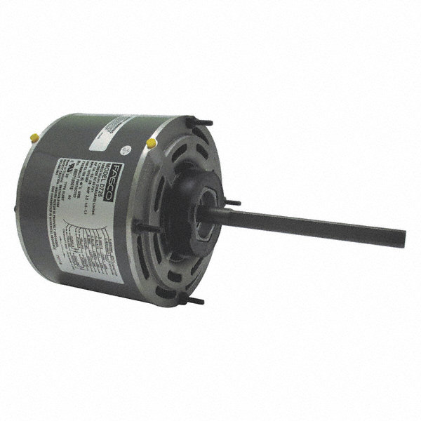 FASCO 1/4 HP Condenser Fan Motor,Permanent Split Capacitor,1075 Nameplate RPM,208-230 Voltage,Frame 48