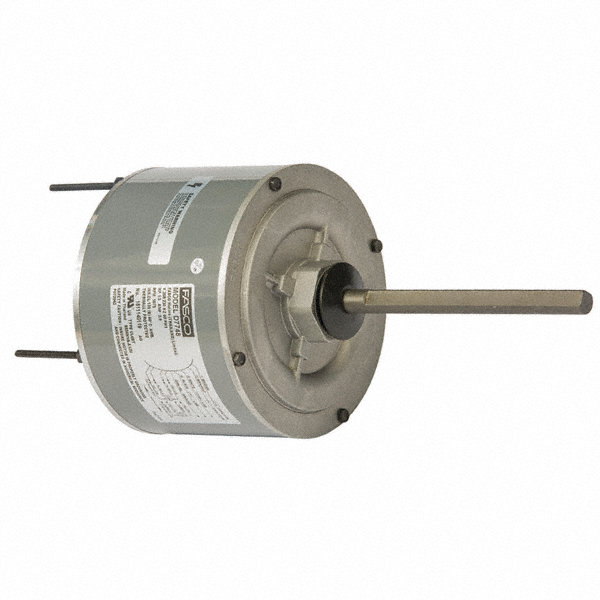 FASCO 1/3 HP Condenser Fan Motor,Permanent Split Capacitor,1075 Nameplate RPM,208-230 Voltage,Frame 48