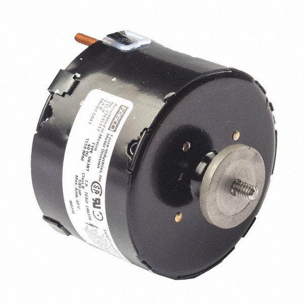 FASCO 1/20 HP Condenser Fan Motor, Shaded Pole, 1550 Nameplate RPM, 115 VoltageFrame Non-Standard