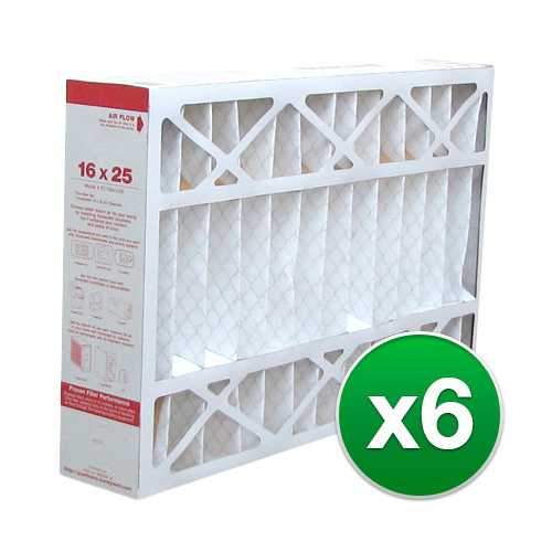 Replacement Pleated Air Filter for For Honeywell F100F2002 HVAC 16x25x5 MERV 11 (6 Pack)