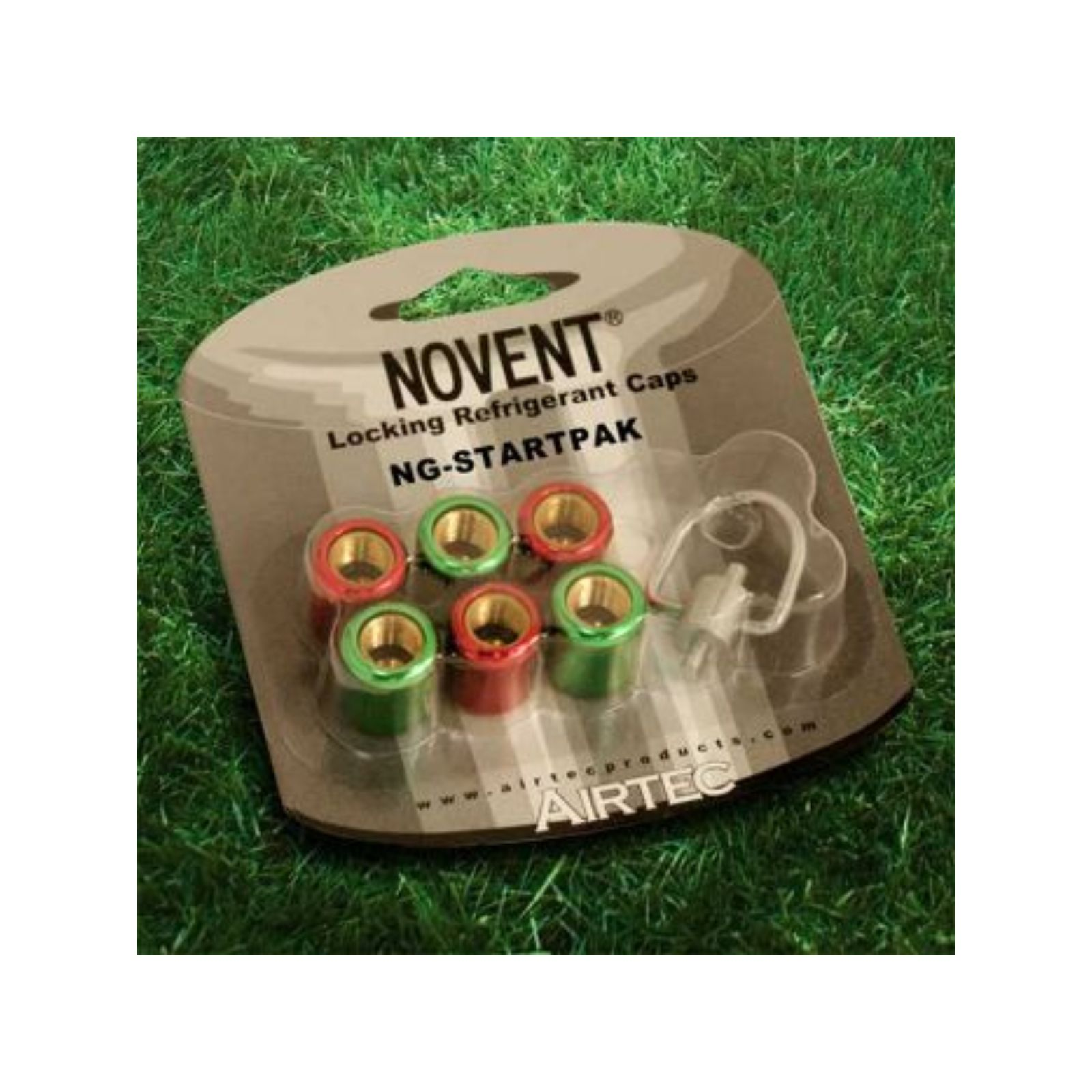 "Novent 86668 -   1/4"" Starter Pack With 3-R22 Green Caps, 3-R410 Pink Caps and 1 Multi-Key"