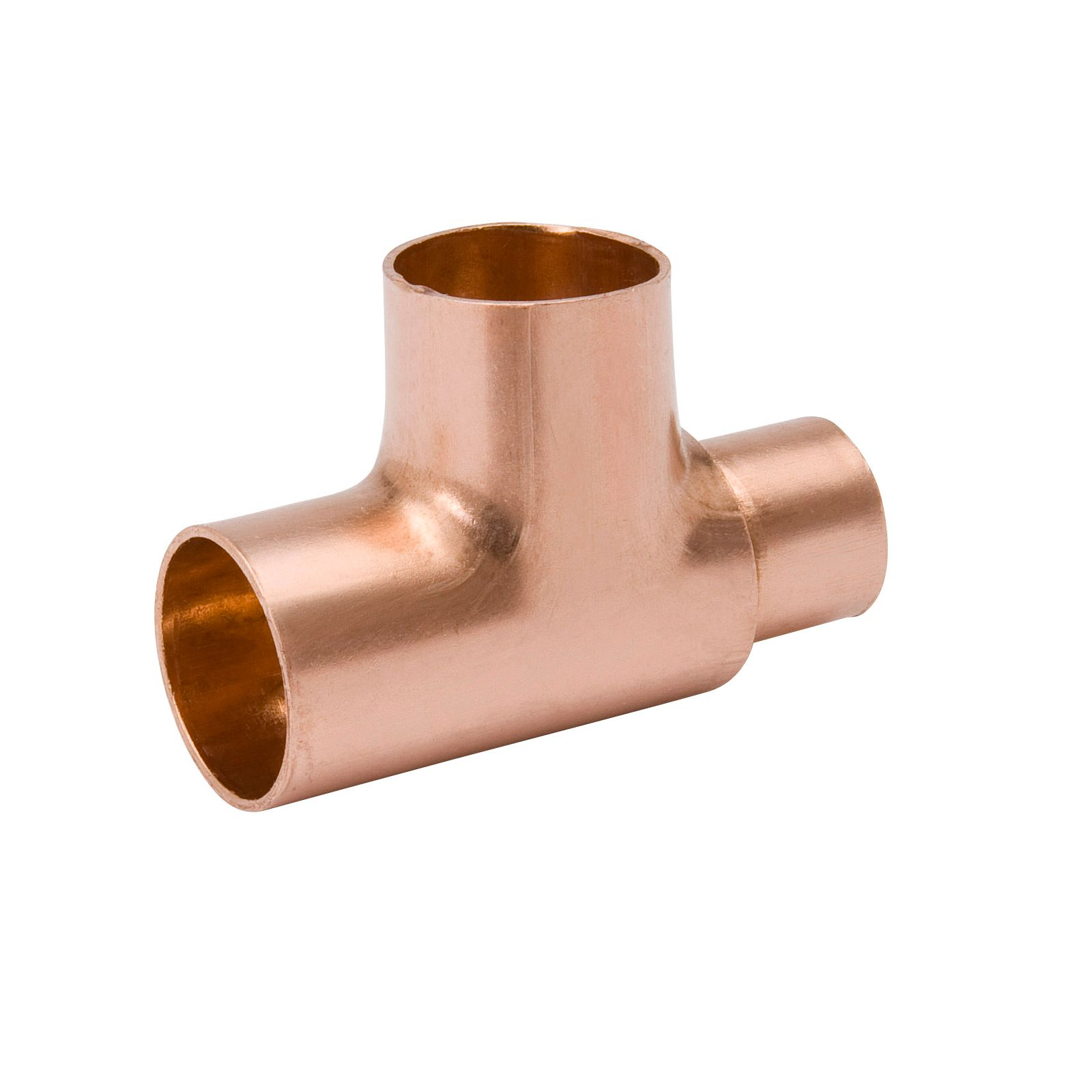 "Streamline W 04002 - Copper Fittings - Tee, Reducing, C x C x C, 1/2""O.D. x 1/2""O.D. x 3/8""O.D."